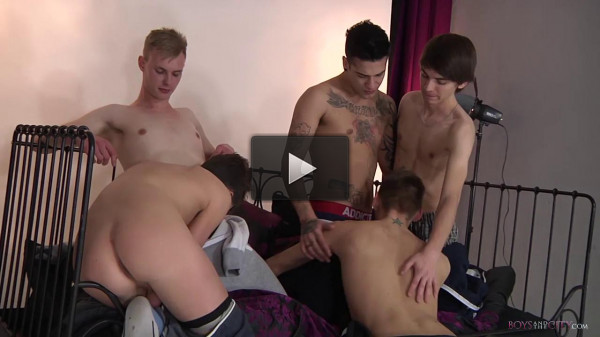 Five Horny Boys All Hungry For It