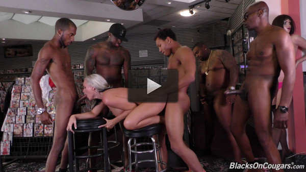 Alena Croft — First anal gang bang! (2017)