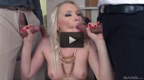 Marica Chanel Works Two Cocks Building Up To A Double Penetration