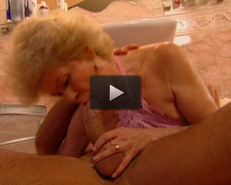 Cumming in the cougar's mouth