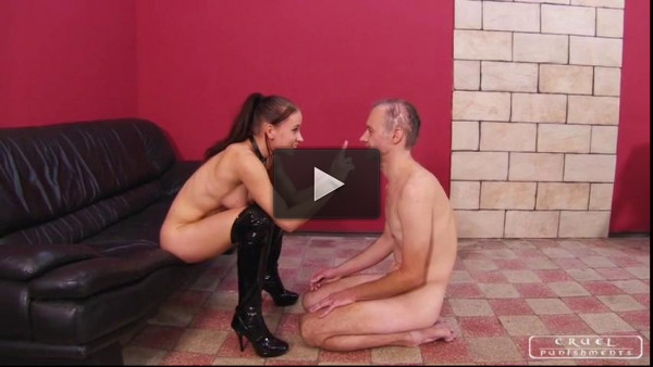 lady testing hand - (Testing the new slave)