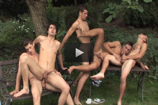 Amazing gangbang collection for perfect men