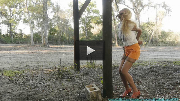 Tied To a Post In The Dilapidated Barn — Amanda Foxx — Part 1 - HD 720p