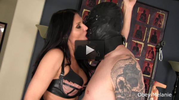 Obey Melanie — Hardcore Bondage Kissing