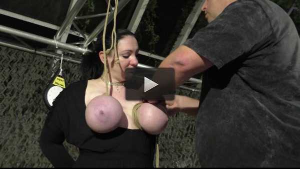 More Public Breast Torture for Titslave Cat — HD 720p