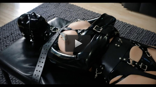 Super bondage, domination and torture for young model in latex