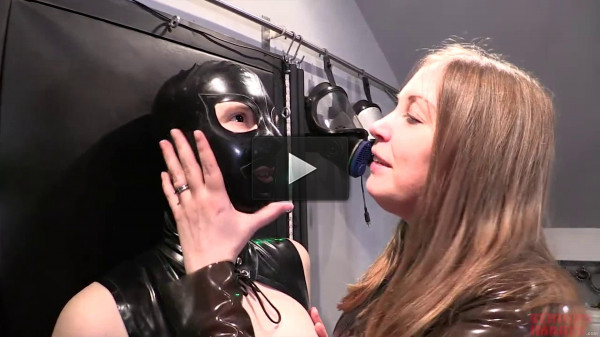Bondage, domination and torture for sexy bitch in latex (part 1)