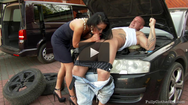 Angry Milf Gets Fucked On Her New Car