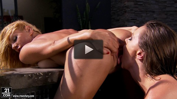 Hot And Passionate Lesbian Sex In The Open Air