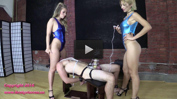 new heels pain - (Alexa Rydell & Harley TENS Limit Tested While Facesat And Milked)