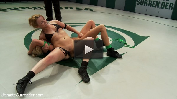 stud sub car - (2 blonds battle to see who gets 2 fuck the other. Brutal scissor submissions, headlocks & grapevines)
