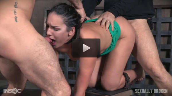 Paisley Parker is destroyed by cock from both ends while completely helpless and cumming! (cute, con, cock, face fucking)