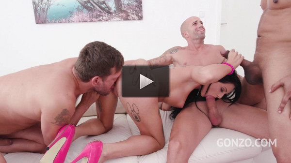 Barbie Esm first Dap with monster cocks