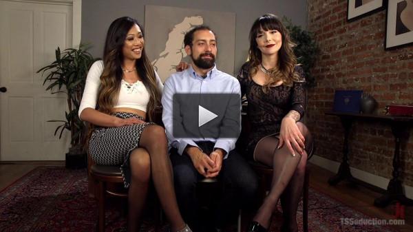 Danielle Foxx , DJ and Venus Lux - Spit Balling TS Cum For Couples (new, online, suck)...