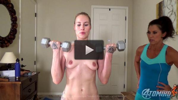 Jolene Hexx Sweaty Nude Workout Part Two