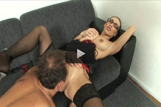 Combat Zone — Brunette Babe Sucks Dick in the Office